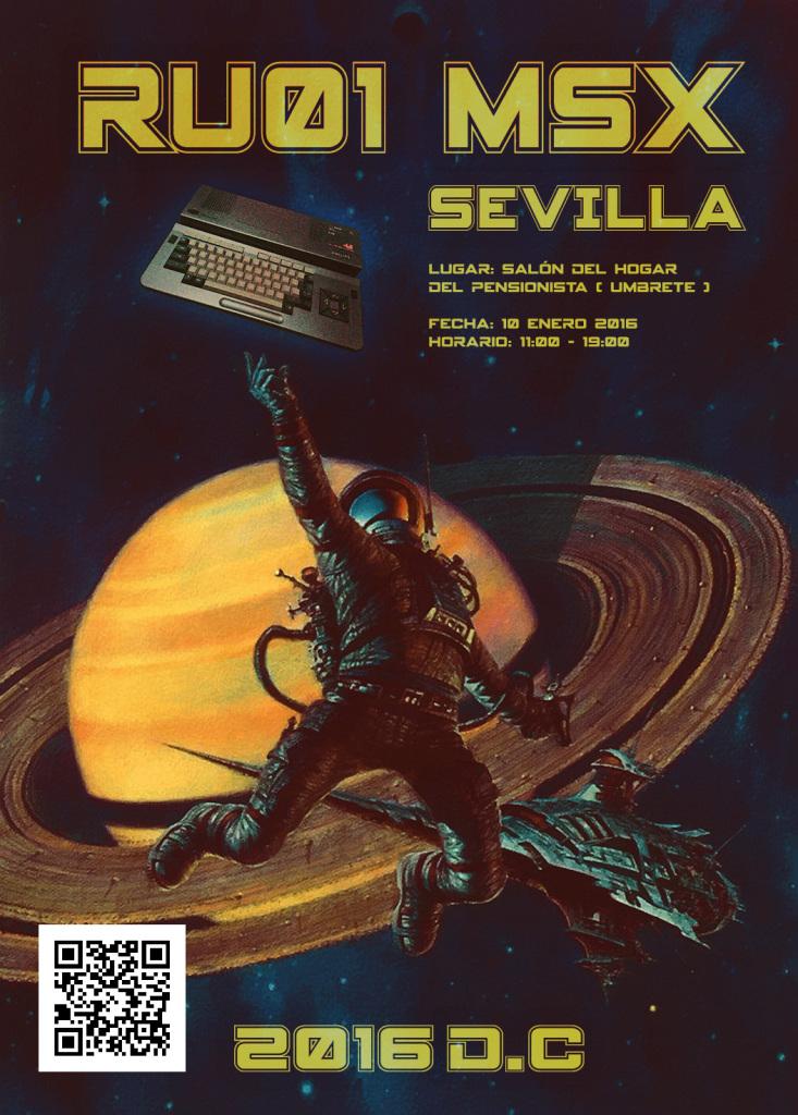 Cartel Promocional de la RU01 MSX Sevilla.